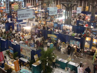 Travel show floor