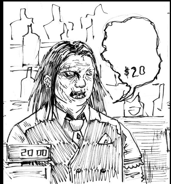 Zombartender in ' Bad Tipper ' rough (2)