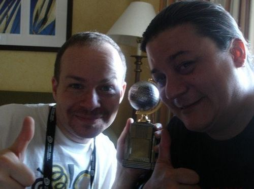 Joe, me with eisner award