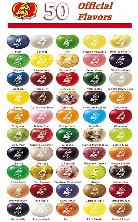 Jellybelly flavors