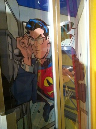 Superman bathroom