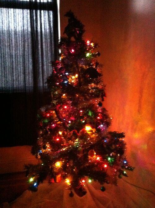 Xmas tree lights off