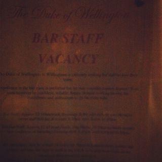 Bar vacancy