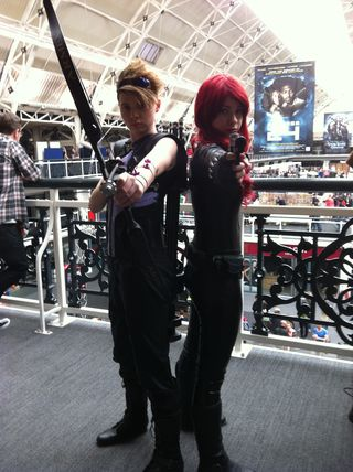 Hawkeye, black widow