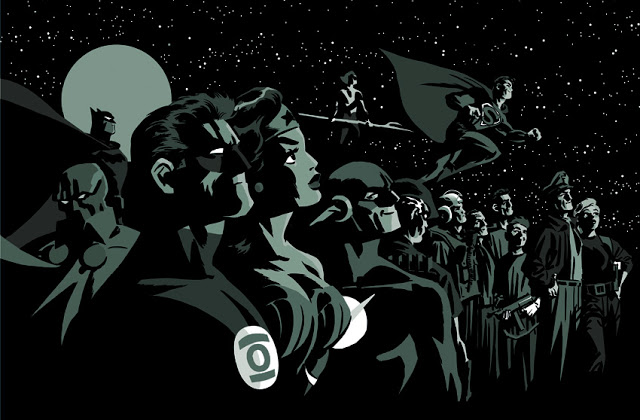 New Frontier__Heroic Line-Up Finished__Darwyn Cooke